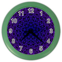 Background Lines Pattern Line Art Color Wall Clock
