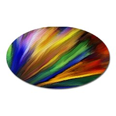Graffiti Painting Pattern Abstract Oval Magnet