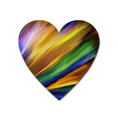 Graffiti Painting Pattern Abstract Heart Magnet by Nexatart
