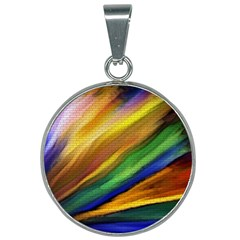 Graffiti Painting Pattern Abstract 25mm Round Necklace