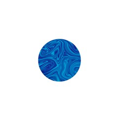 Blue Abstract Pattern Art Shape 1  Mini Buttons
