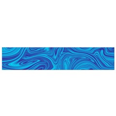 Blue Abstract Pattern Art Shape Small Flano Scarf by Nexatart