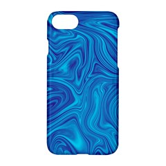 Blue Abstract Pattern Art Shape Apple Iphone 8 Hardshell Case