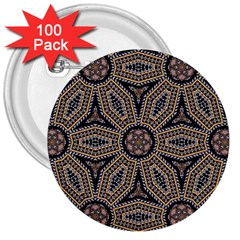Pattern Decoration Abstract 3  Buttons (100 Pack)