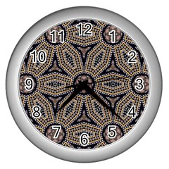 Pattern Decoration Abstract Wall Clock (silver)
