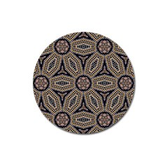 Pattern Decoration Abstract Magnet 3  (round)