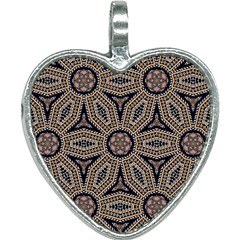 Pattern Decoration Abstract Heart Necklace