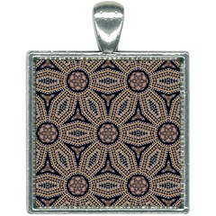 Pattern Decoration Abstract Square Necklace