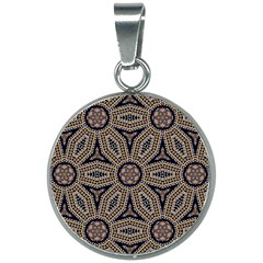 Pattern Decoration Abstract 20mm Round Necklace