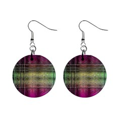 Abstract Desktop Pattern Wallpaper Mini Button Earrings