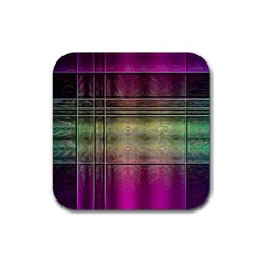 Abstract Desktop Pattern Wallpaper Rubber Coaster (square)