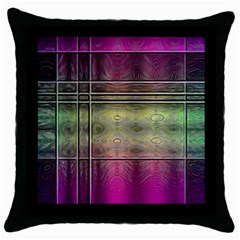 Abstract Desktop Pattern Wallpaper Throw Pillow Case (black) by Nexatart