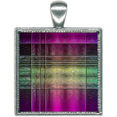 Abstract Desktop Pattern Wallpaper Square Necklace