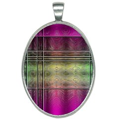 Abstract Desktop Pattern Wallpaper Oval Necklace