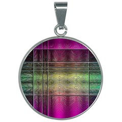 Abstract Desktop Pattern Wallpaper 30mm Round Necklace