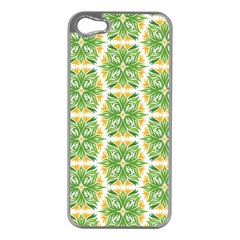 Pattern Abstract Decoration Flower Apple Iphone 5 Case (silver)