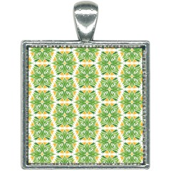 Pattern Abstract Decoration Flower Square Necklace