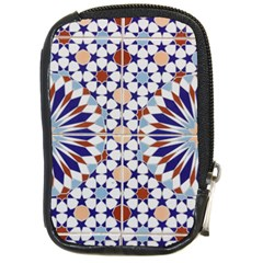 Morocco Essaouira Tile Pattern Compact Camera Leather Case by Nexatart