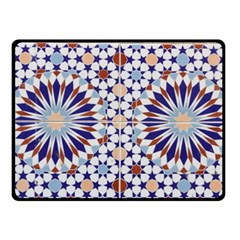 Morocco Essaouira Tile Pattern Fleece Blanket (small)