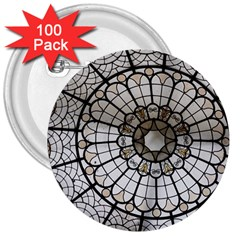 Pattern Abstract Structure Art 3  Buttons (100 Pack)  by Nexatart