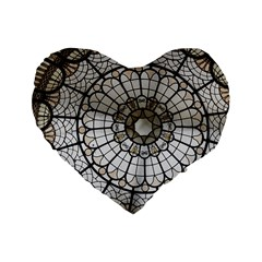 Pattern Abstract Structure Art Standard 16  Premium Flano Heart Shape Cushions by Nexatart