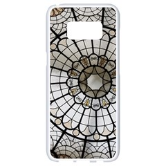Pattern Abstract Structure Art Samsung Galaxy S8 White Seamless Case