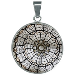Pattern Abstract Structure Art 30mm Round Necklace