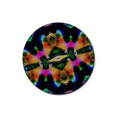 Butterfly Color Pop Art Rubber Coaster (round)  by Nexatart