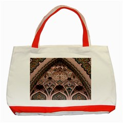 Pattern Decoration Art Architecture Classic Tote Bag (red)