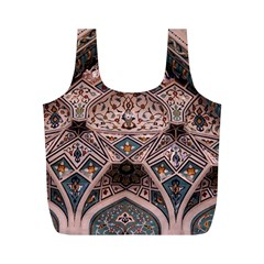 Pattern Decoration Art Architecture Full Print Recycle Bag (m)