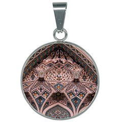 Pattern Decoration Art Architecture 25mm Round Necklace