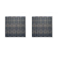 Desktop Pattern Abstract Fabric Cufflinks (square)