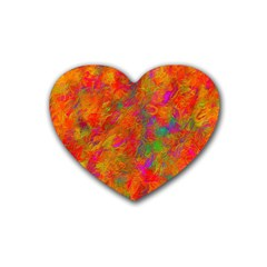 Abstract Pattern Art Canvas Heart Coaster (4 Pack)