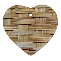 Wicker Model Texture Craft Braided Heart Ornament (two Sides)