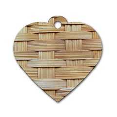 Wicker Model Texture Craft Braided Dog Tag Heart (one Side)