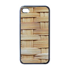 Wicker Model Texture Craft Braided Apple Iphone 4 Case (black)