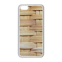 Wicker Model Texture Craft Braided Apple Iphone 5c Seamless Case (white)