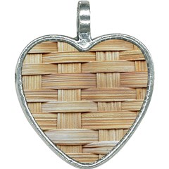 Wicker Model Texture Craft Braided Heart Necklace