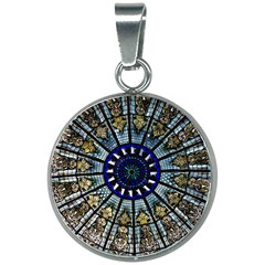 Pattern Art Form Architecture 20mm Round Necklace