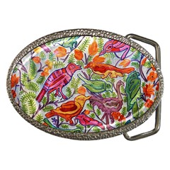 Art Flower Pattern Background Belt Buckles