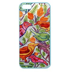 Art Flower Pattern Background Apple Seamless Iphone 5 Case (color)
