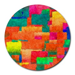 Pattern Texture Background Color Round Mousepads