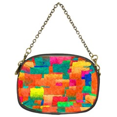 Pattern Texture Background Color Chain Purse (two Sides)