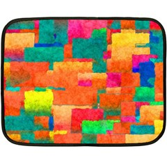 Pattern Texture Background Color Double Sided Fleece Blanket (mini)