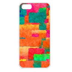 Pattern Texture Background Color Apple Iphone 5 Seamless Case (white)