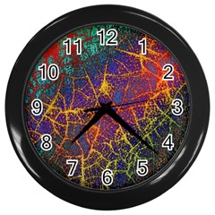 Background Desktop Pattern Abstract Wall Clock (black)