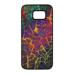Background Desktop Pattern Abstract Samsung Galaxy S7 Edge Black Seamless Case