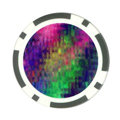 Background Abstract Art Color Poker Chip Card Guard (10 Pack)