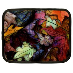 Fall Leaves Abstract Netbook Case (xxl) by bloomingvinedesign