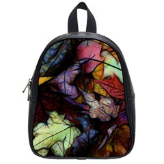 Fall Leaves Abstract School Bag (small) by bloomingvinedesign